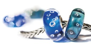 Universal Diamond Bead Blue and Azure Bubbles