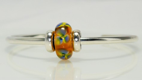 Trollbeads Glowing Pansy