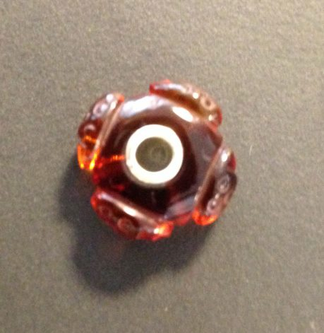 Trollbeads Carved Amber Ladybird