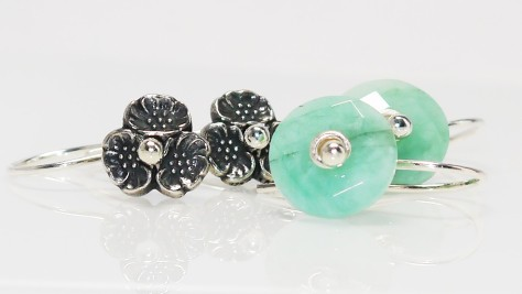 Trollbeads Emerald Cherry Blossom Earrings