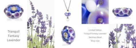 Trollbeads Tranquil Fantasy Lavender bead